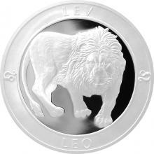 Stříbrná medaile Znamení zvěrokruhu - Lev 2017 Proof