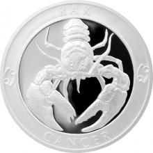 Stříbrná medaile Znamení zvěrokruhu - Rak 2017 Proof
