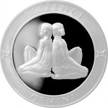 Stříbrná medaile Znamení zvěrokruhu - Blíženci 2017 Proof