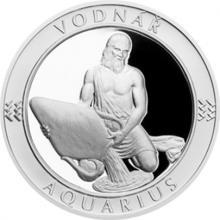Stříbrná medaile Znamení zvěrokruhu s věnováním - Vodnář 2017 Proof
