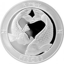 Strieborná medaila Znamenie zverokruhu - Ryby 2017 Proof