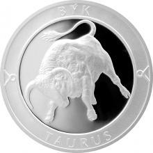 Stříbrná medaile Znamení zvěrokruhu - Býk 2017 Proof