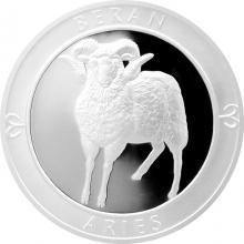 Stříbrná medaile Znamení zvěrokruhu - Beran 2017 Proof