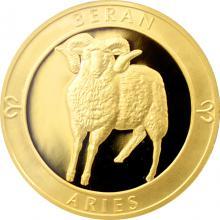 Zlatý dukát Znamení zvěrokruhu - Beran 2017 Proof