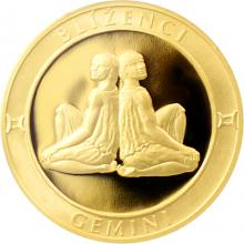 Zlatý dukát Znamení zvěrokruhu - Blíženci 2017 Proof