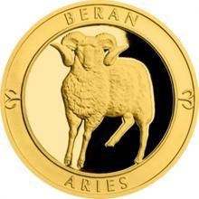 Zlatý dukát Znamení zvěrokruhu s věnováním - Beran 2017 Proof