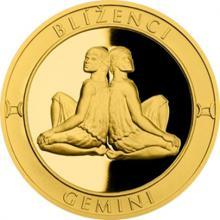 Zlatý dukát Znamení zvěrokruhu s věnováním - Blíženci 2017 Proof