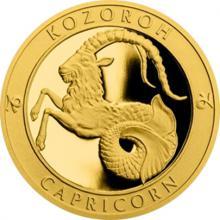 Zlatý dukát Znamení zvěrokruhu s věnováním - Kozoroh 2017 Proof