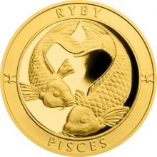 Zlatý dukát Znamení zvěrokruhu s věnováním - Ryby 2017 Proof