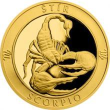 Zlatý dukát Znamení zvěrokruhu s věnováním - Štír 2017 Proof
