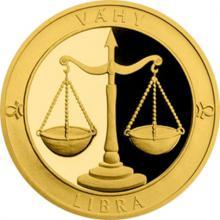 Zlatý dukát Znamení zvěrokruhu s věnováním - Váhy 2017 Proof