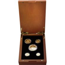 Australian Kangaroo Sada zlatých mincí 2017 Proof