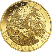 Zlatá mincaTom Thomson: Pine Island, Georgian Bay 1 Oz 2015 Proof