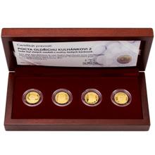 Sada čtyř zlatých medailí Pocta Oldřichu Kulhánkovi 2017 Proof