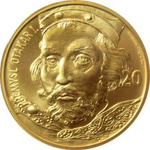 Zlatá medaile ve váze 40dukátu s motivem 20 Kč bankovky - Přemysl Otakar I. 2017 Standard