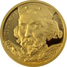 Zlatá medaile s motivem 20 Kč bankovky - Přemysl Otakar I. 2017 Proof