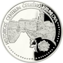 Platinová uncová minca UNESCO - Historické centrum Českého Krumlova 2017 Proof
