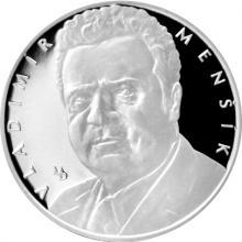 Stříbrná medaile Hvězdy stříbrného plátna - Vladimír Menšík 2017 Proof