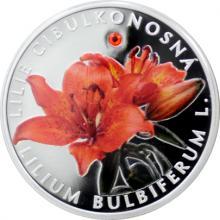 Stříbrná mince Ohrožená příroda - Lilie cibulkonosná 2017 Proof