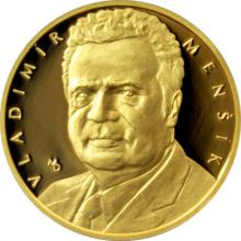 Zlatá čtvrtuncová medaile Hvězdy stříbrného plátna - Vladimír Menšík 2017 Proof