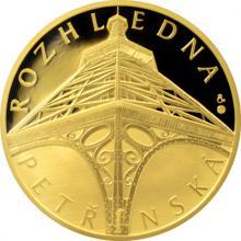 Zlatá uncová medaile Petřínská rozhledna 2017 Proof