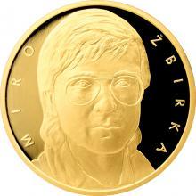 Zlatá půluncová medaile Miro Žbirka číslováno 2017 Proof