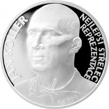 Stříbrná mince Jan Koller 2017 Proof