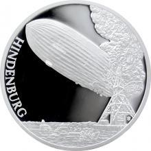 Stříbrná mince Století létání - Zkáza vzducholodi Hindenburg 2017 Proof