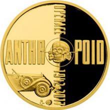 Zlatá půluncová medaile Operace Anthropoid 2017 Proof