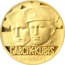 Zlatý dukát Národní hrdinové - Jozef Gabčík a Jan Kubiš 2017 Proof