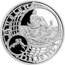 Stříbrná medaile Staroměstský orloj - Blíženci 2017 Proof