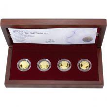 Sada čtyř zlatých mincí Šlechtický rod Pánů z Rožmitálu 2017 Proof