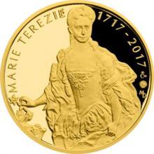 Zlatá půluncová medaile Marie Terezie 2017 Proof