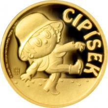 Zlatá mince Cipísek 2017 Proof