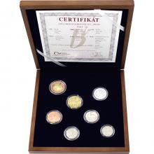 Sada obežných mincí - drevená etue 2017 Proof