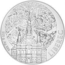 Stříbrná půlkilová investiční medaile Statutární město Liberec 2017 Standard