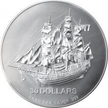 Stříbrná investiční mince Bounty Cook Islands 1 Kg 2009