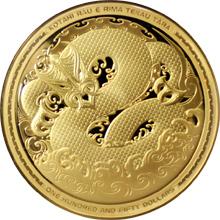 Zlatá mince 5 Oz Taniwha Maori Art 2017 Proof