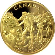 Zlatá minca Alexander Mackenzie 2017 Proof