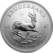 Strieborná investičná minca 1 Oz Krugerrand 50. výročí 2017
