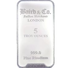 Baird London 5 Oz Investiční rhodium slitek