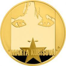 Zlatá uncová medaile Marta Kubišová 2017 Proof