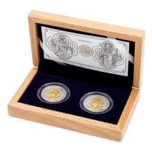 Sada dvoch strieborných mincí Relikviár svätého Maura 2017 Proof