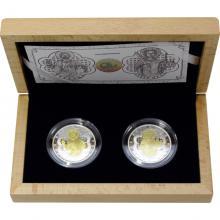 Sada dvou stříbrných mincí Relikviář svatého Maura 2017 Proof