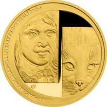 Zlatá půluncová medaile Založení Sdružení českých umělců grafiků Hollar 2017 Proof