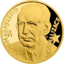 Zlatý dukát Českoslovenští prezidenti - Gustáv Husák 2017 Proof