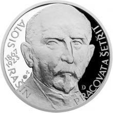 Stříbrná medaile Národní hrdinové - Alois Rašín 2017 Proof