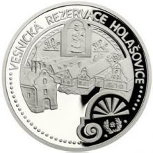 Platinová uncová mince UNESCO - Holašovice 2017 Proof