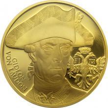 Zlatá uncová medaile Dějiny válečnictví - Bitva u Domašova 2018 Proof