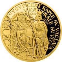Zlatá půluncová medaile Vysvěcení kaple sv. Václava 2017 Proof